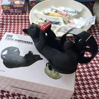 🚚 日本帶回 全新 黑貓 膠帶台 文創造型 交換禮物