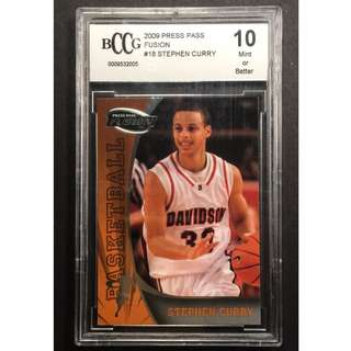 Stephen Curry Card 2009 Fusion Original Vintage Basketball