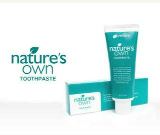 Nature's Own Toothpaste
