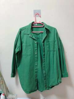 #二手#綠色牛仔外套