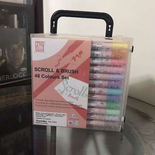 Zig Scroll & Brush 48 Colours Set