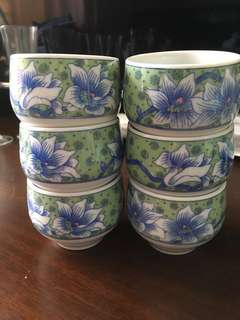 *New* A set of 6 Japanese cup 日本茶杯