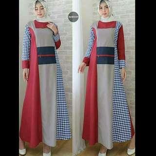 MF - 0418 - Dress Gamis Busana Muslim Wanita Rahmadani