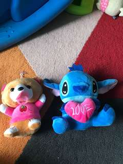#Blessing new toys stitch and baby pacifier bear
