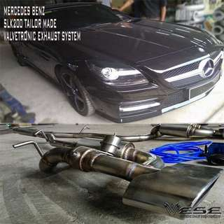 MERCEDES BENZ SLK200 CUSTOM MADE VALVETRONIC EXHAUST SYSTEM