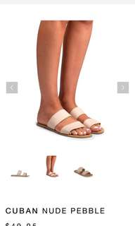 Billini Cuban Sandals (Nude Pebble)