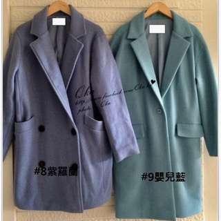 🚚 轉賣正韓75%羊毛紫羅藍大衣娜塔莉唐葳著