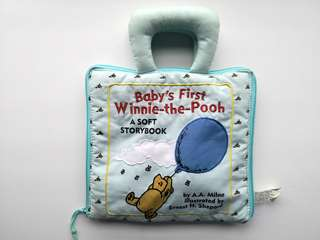 PRELOVED BABY'S FIRST WINNIE THE POOH A Soft Storybook - in good condition with some minor flaws