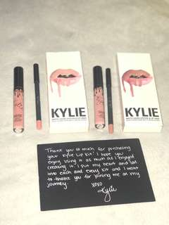 Kylie matte lipstick wt lip liner (2500 for both)