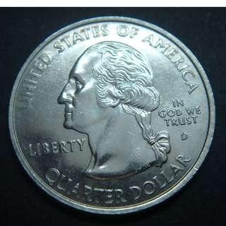 (CN 0073) 2001-D America (Kentucky) Quarter Dollar Coin