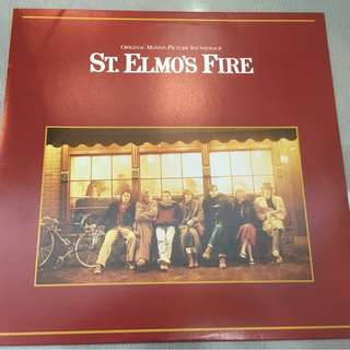 Various ‎– St. Elmo's Fire - Original Motion Picture Soundtrack, Japan Press Vinyl LP, Atlantic ‎– P-13182, 1985, no OBI
