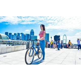 🚚 Bicycle Rentals at Marina Bay : E-Ticket (Skip the Que & save 30--40% money)