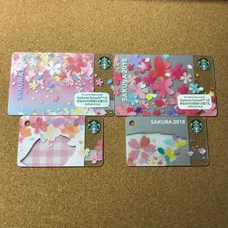 🚚 Japan Starbucks Sakura Card 2018 Set