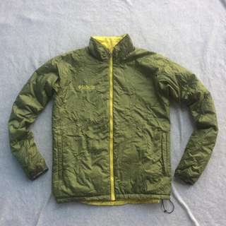 COLUMBIA REVERSIBLE DOWN JACKET GREEN YELLOW