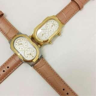 Philip Stein Wrist Watch Swiss Signature Analog Display Original Genuine Leather Strap Ladies Watch (BROWN)