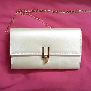 Cream Coloured Clutch/Sling Bag