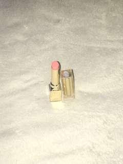 Lancome glossy pink lipstick