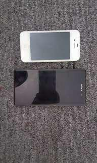 Xperia Z1 and iphone 4s