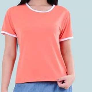 Orange Top With White Bias Size: Medium to large