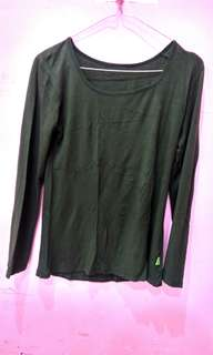 Green Long sleeve | baju lengan panjang | inner top