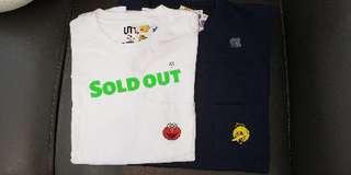 Uniqlo Kaws Sesame Street T-shirt 芝麻街 Size L