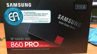 Samsung 860 Pro SSD 512gb