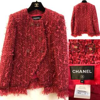 Chanel metallic red jacket size 34
