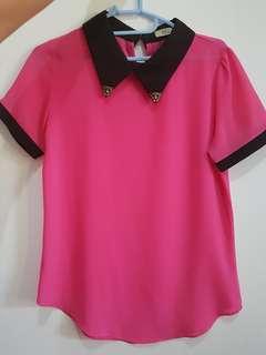 [Preloved] blouse pink