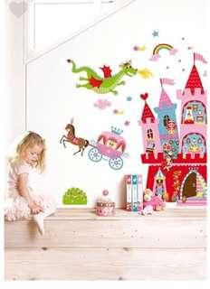 🚚 全新未拆封! 法國Janod 互動式磁性壁貼-公主城堡