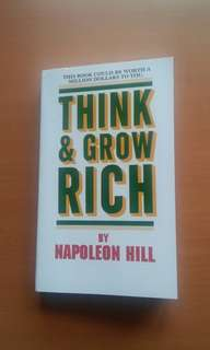Think and grow rich by napoleon hill very good condition