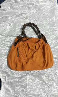 TAN SUEDE SHOULDER BAG