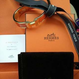 Authentic Hermes Bangle Clic Clac in Orange