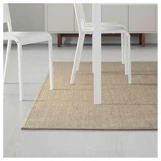 IKEA OSTED natural flatwoven rug
