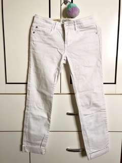 🚚 原價790 白褲 牛仔褲 S號