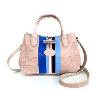 Longchamp Roseau Croco Crossbody