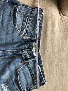 PacSun light washed high waist denim shorts