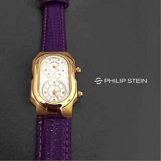 Philip Stein Wrist Watch Swiss Signature Analog Display Original Genuine Leather Strap Ladies Watch