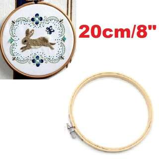 Bamboo Hoop Ring for DIY Cross Stitch, Machine Embroidery, Needlework, Handicraft