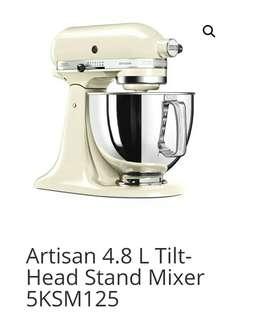 Kitchen Aid Stand Mixer (Almond Cream)