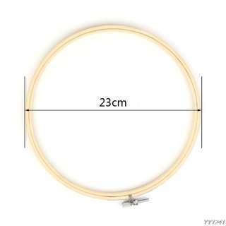 Bamboo Hoop Ring for DIY Cross Stitch, Machine Embroidery, Needlework, Handicraft