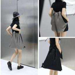 🚚 Pleated grey Drawstring bag/Tote bag
