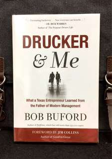 《Preloved Paperback + The Inspiring True Story of Two Giants Who Would Change the World》Bob Buford - DRUCKER & ME : What a Texas Entrepreneur Learned from the Father of Modern Management