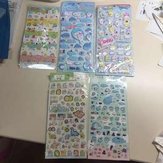 San X Sumikko Gurashi and jinbesan stickers