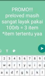PROMO!!! 100rb = 3 item