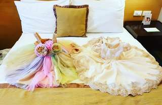 Unicorn-Themed Gown & Baptismal Gown for Baby Girl