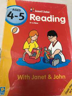 Star Kids - Janet and John reading in a box