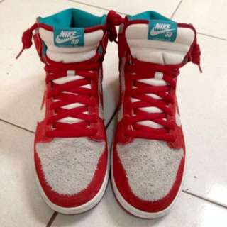 REPRICED!!! Nike SB Dunk High (Gym-Red-Teal)