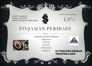 Pinjaman Peribadi Proses Free 0176861668
