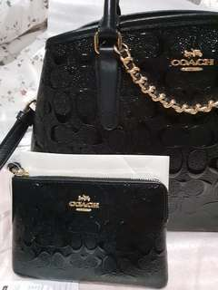 BRAND NEW AUTHENTIC COACH TWO WAY BAG & WRISTLET SMALL WALLET