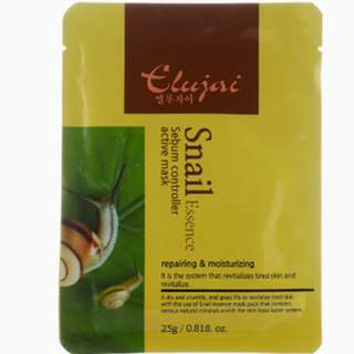 Elujai Snail Mask Sheet 23g Made In Korea